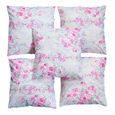Beli Flanelade Sarung Bantal Sofa Motif Floral White 5 Buah Terbaru
