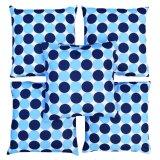 Katalog Flanelade Sarung Bantal Sofa Motif Polkadot Biru Tua 5 Buah Terbaru