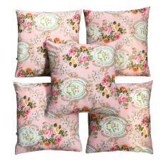 Ulasan Mengenai Flanelade Sarung Bantal Sofa Motif Shabby Chic Pink 5 Buah