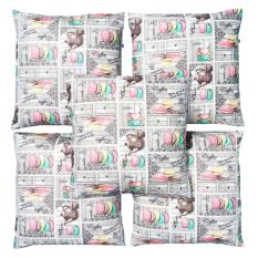 Jual Flanelade Sarung Bantal Sofa Motif Sweat Treats Grey 5 Buah Murah North Sumatra