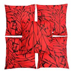 Tips Beli Flanelade Sarung Bantal Sofa Motif Sycamore Merah 5 Buah