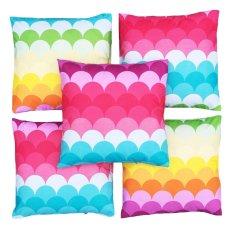 Beli Flanelade Sarung Bantal Sofa Motif Ultra Violet Multicolor 5 Buah Online Terpercaya