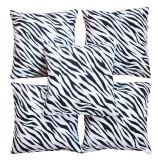 Beli Flanelade Sarung Bantal Sofa Motif Zebra Putih 5 Buah Online Terpercaya