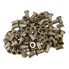 Spesifikasi Kepala Datar Keling Nut M4 Set 100 Gold Paling Bagus