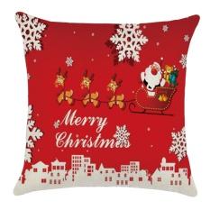Harga Flax Merry Christmas Series Decorative Throw Pillow Cushion Cover Case Pillowcase Christmas Xmas Decoration 45 X 45Cm Santa Claus Style Intl Terbaru
