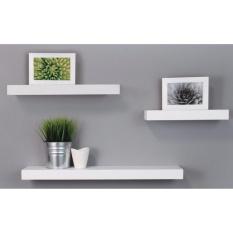 Floating Shelves - 1 Set 3Pcs Rak Dinding Minimalis 40cm-30cm-20cm - Promo