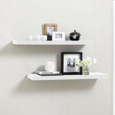 Floating Shelves Ambalan Dekorasi - Rak Dinding / Rak Buku Minimalis Set 2 Pcs / 30x20cm - Putih