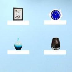 Floating Shelves Ambalan Dekorasi - Rak Dinding / Rak Buku Minimalis Set 4 Pcs / 20x10 cm