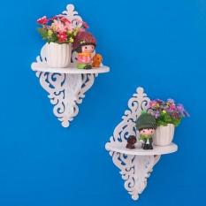 Floating Shelves - Rak Dinding Decorative Gantung Shabby Chic Vintage Ukir Set 2 Buah