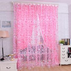 Floral Tulle Voile Door Window Curtain Drape Panel Sheer Pink Oem Diskon 30