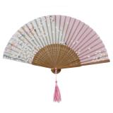 Bunga Sutra Bambu Cina Kipas Tangan Lipat Pesta Pernikahan 21 Cm Tiongkok Diskon