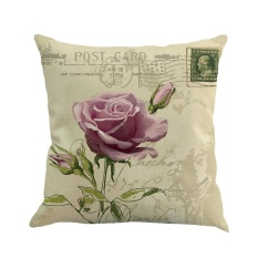 Dapatkan Segera Lukisan Bunga Linen Sarung Bantal Sofa Sarung Bantal Kursi Dekorasi Rumah Internasional