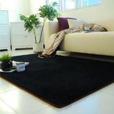 Harga Berbulu Anti Selip Ramus Area Karpet Rumah Karpet Yoga Kamar Tidur Lantai Ruang Makan Mat Hitam Intl Oem