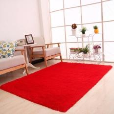 Fluffy Rugs Anti-Skid Shaggy Area Ruang Makan Karpet Karpet Kamar Tikar PANAS-Internasional