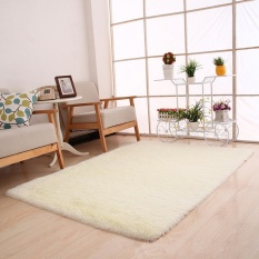 Fluffy Rugs Anti-Skid Shaggy Area Ruang Makan Karpet Karpet Kamar Tikar WH-Intl
