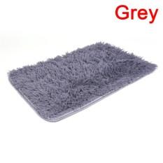 Berbulu Karpet Antislip Ramus Daerah Ruang Makan Karpet Rumah Karpet Kamar Tikar Grey 60 Cm * 40 CM-Internasional
