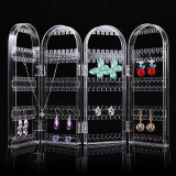 Spesifikasi Lipat Clear Screen Jewelry Anting Stand Rack 4 Panel 240 Lubang Earrings Showcase Display Organizer Holder Sempurna Untuk Kalung Gelang Warna Clear Ukuran D061 Empat Halaman Intl