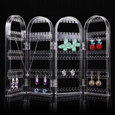Toko Lipat Clear Screen Jewelry Anting Stand Rack 4 Panel 240 Lubang Earrings Showcase Display Organizer Holder Sempurna Untuk Kalung Gelang Warna Clear Ukuran D061 Empat Halaman Intl Lengkap