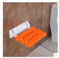 Folding Bath Shower Seat Wall Mounted Relaksasi Shower Chair Solid Kursi Bangku Hemat SpaceBathroom-Intl