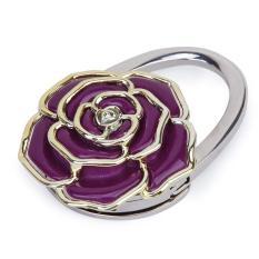Jual Folding Handbag Dompet Bag Hanger Kait Menggantung Dudukan Meja Rose Flower Shape