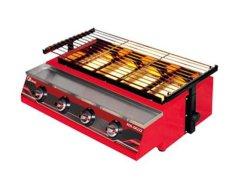 FOMAC panggangan sosis / kompor panggangan tanpa asap 4 tungku ROS GK 222 (merah)
