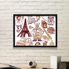 Food Cooker France Eiffel Tower National Flag Architecture Custom Landscape Illustration Pattern Simple Picture Frame Art Prints of Paintings Home Wall Decal