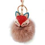 Beli Barang Fox Fur Ball Dengan Buatan Fox Head Inlay Mutiara Berlian Imitasi Gantungan Kunci Intl Online