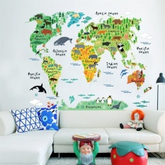 FRD 3D Map Wall Sticker Decal Wallpaper Pvc Mural Art Housedecoration Home Picture Wall Paper For Adult Kids 60X90
