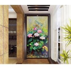 FRD Murah Modern Seni Cina Lotus Lukisan Bunga Paintingsfor Ruang Tamu Dinding Gambar Cetak Pada 3 Panel Gambar (Noframe) -Intl