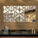 Harga Freebang 32 Buah 3D Kaca Akrilik Modern Dinding Stiker Dapat Dilepas Stiker Seni Dekorasi Rumah Diseduh Sendiri Perak Intl Murah