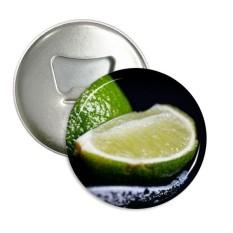 Buah Segar Lemon Hijau Gambar Sepanjang Pembuka Botol Magnet Kulkas Lencana Tombol 3 Pcs Hadiah-Internasional