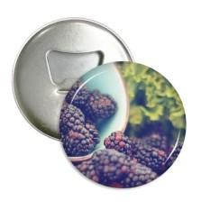 Segar Beriklim Sedang Gambar Buah Sepanjang Pembuka Botol Magnet Kulkas Lencana Tombol 3 Pcs Hadiah-Internasional