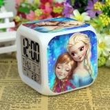 Situs Review Frozen Jam Alarm Digital Klokken Elektronik Meja Jam Tangan Wake Lampu Plastik Dipimpin 7 Warna Intl