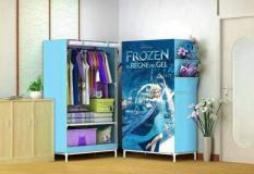 Frozen Lemari Pakaian Single Rak Multi Fungsi Tas dan Baju
