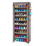 Kualitas Fthree 10 Layer 9 Grid Shoe Rack Storage Rak Sepatu 10Th Grey No Brand