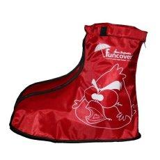 ... Funcover Cover Shoes Kids Junior Jas Sepatu Anak Merah