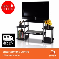 Toko Jual Funika 11257 Bk Gy Meja Tv Entertainment Center Hitam
