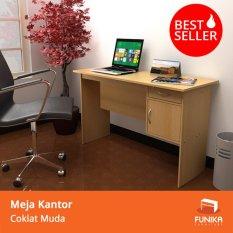 Harga Funika 12120 Be Meja Kantor Dengan Laci Coklat Muda Asli