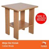 Miliki Segera Funika 99904R1 Oak Meja Sisi Kotak Coklat Muda Khusus Jabodetabek