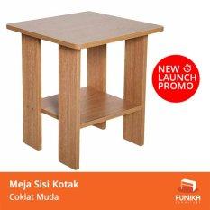 Toko Funika 99904R1 Oak Meja Sisi Kotak Coklat Muda Khusus Jabodetabek Lengkap Indonesia