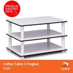 Harga Funika Meja Putih 3 Tingkat 11173 Wh Ex Wh Putih Dan Spesifikasinya
