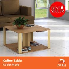 Review Funika Nsct80 Meja Ruang Keluarga Warna Coklat Dengan Serat Kayu Terbaru