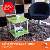 Review Toko Funika Rak Simpan Mini 2 Tingkat Hijau 11214 Gr Wh Hijau