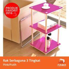 Beli Funika Rak Simpan Mini 3 Tingkat Pink 11213 Pk Wh Merah Muda Seken