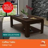 Review Funika Vlct100 Mw Coffee Table Dengan Rak Coklat Tua Khusus Jabodetabek Dki Jakarta