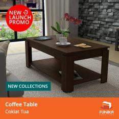 Berapa Harga Funika Vlct100 Mw Coffee Table Dengan Rak Coklat Tua Khusus Jabodetabek Funika Di Dki Jakarta