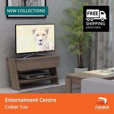 Jual Beli Online Funika Vltv 81 Japan Oak Brown Rak Tv Minimalis Dengan Laci Khusus Jabodetabek
