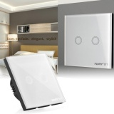 Toko Crystal Kaca Panel Smart Touch Rumah Dinding Lampu 2 Gang Way Uk Standar Eu Ah324 Funry Murah Hong Kong Sar Tiongkok