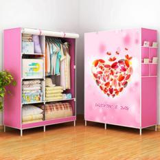 Furniture Murah Tempat Penyimpanan Baju tas Sprei Handuk Mainan Lemari Pakaian Cabinet  Heart 2 Kolom