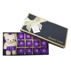 Fuskm Ssige® 12 Pcs/box Mawar Bentuk Sabun Romantis Kekasih Hadiah Simulasi Bunga Mawar